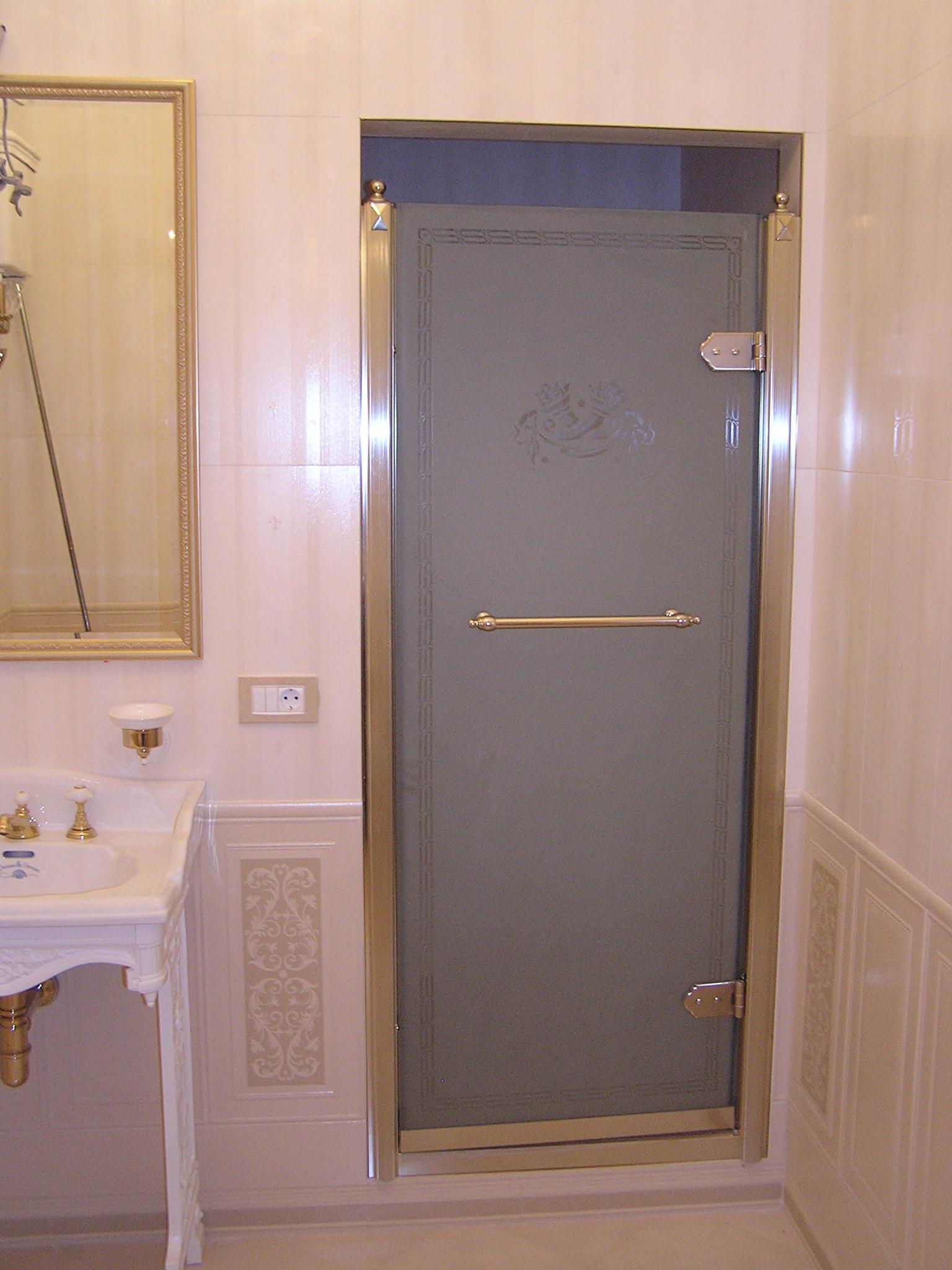 Стеклянная матовая дверь для сауны