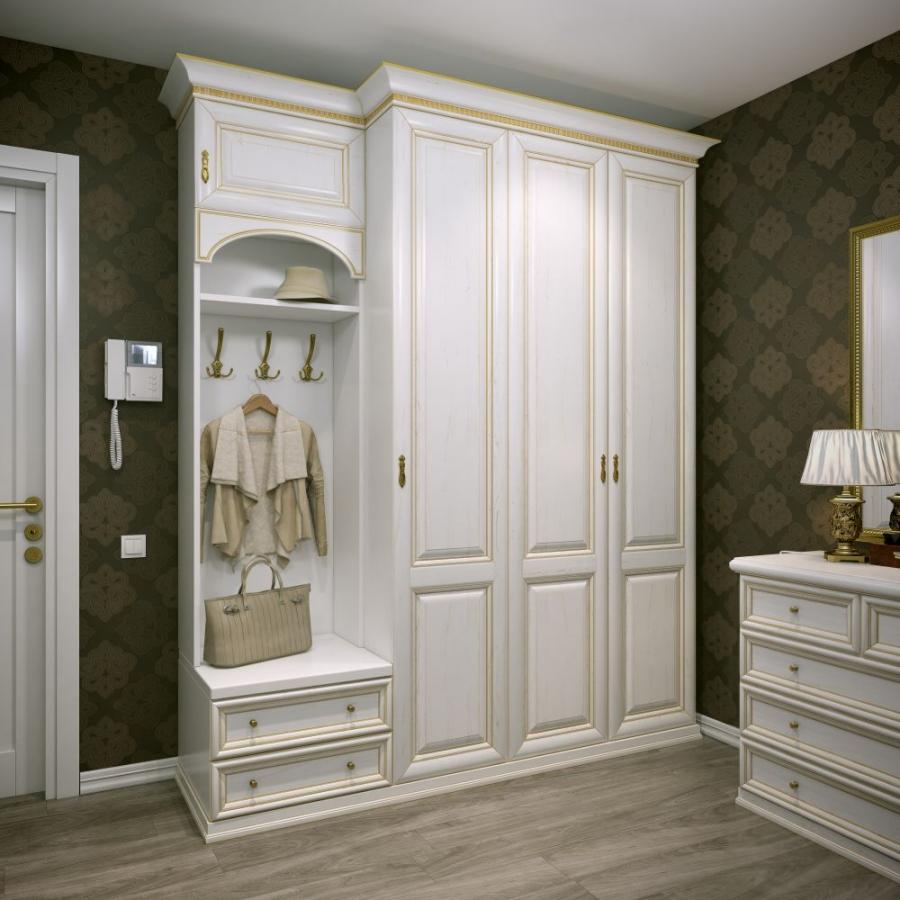 Мебель в классической прихожей