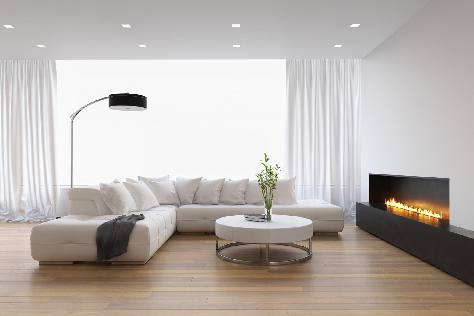 Матовый потолок в стиле минимализм