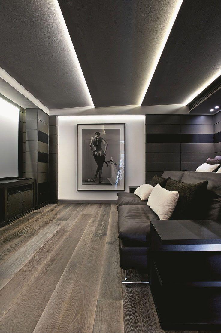 Фигурный потолок в стиле минимализм