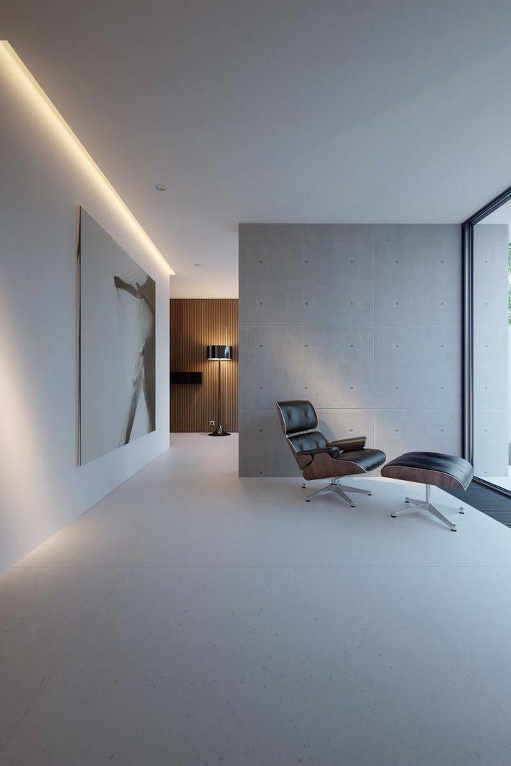 Бесшовный потолок в стиле минимализм