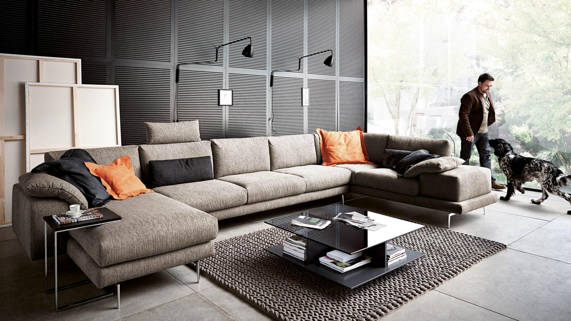 Перетяжка дивана в стиле модерн