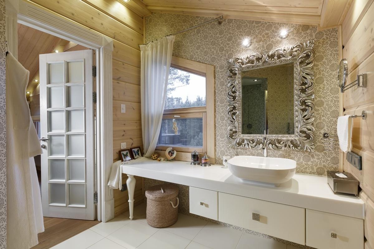 Дверь в ванную в стиле модерн