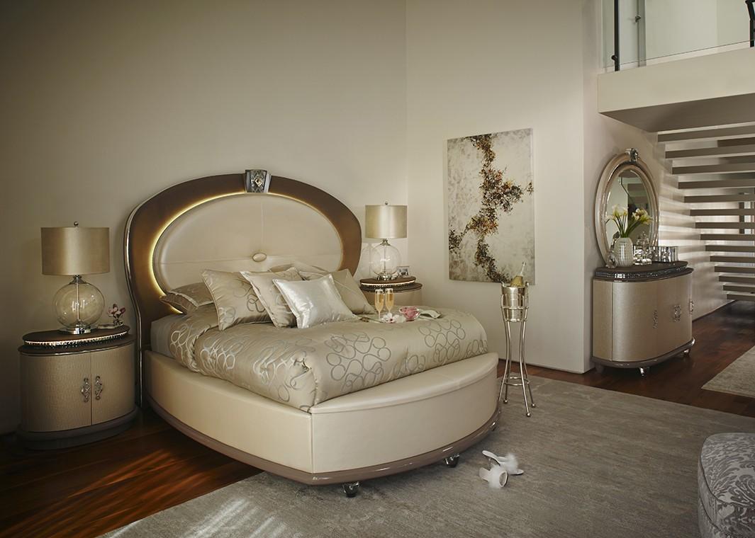 Овальная кровать в стиле модерн
