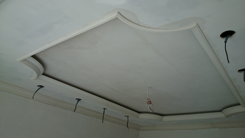 Монтаж гипсового потолка