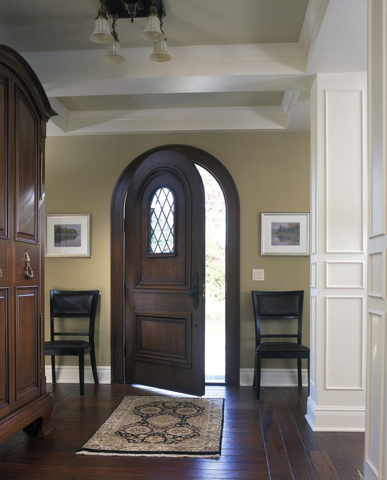 Арочная дверь из мореного дуба