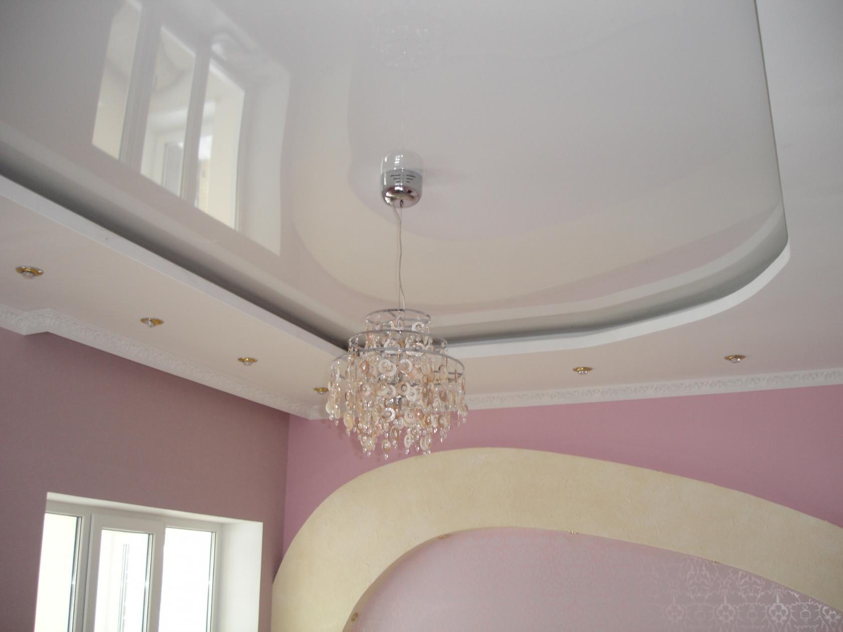 Выравнивание потолка натяжной конструкцией