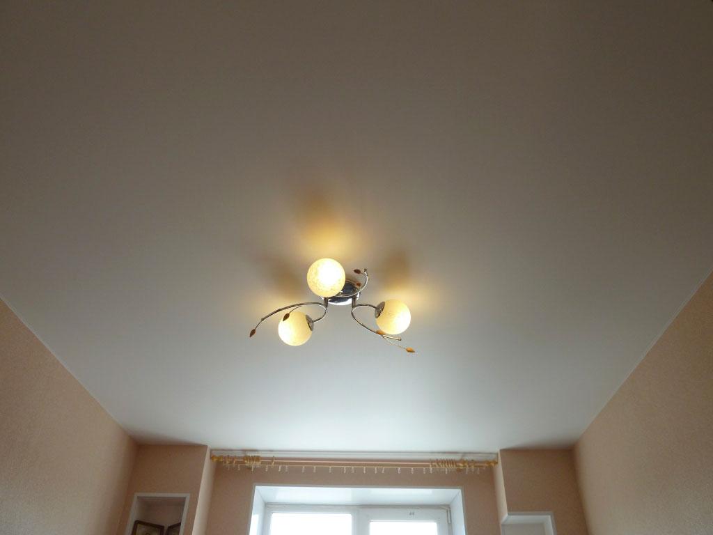 Сатиновый натяжной потолокСатиновый натяжной потолок