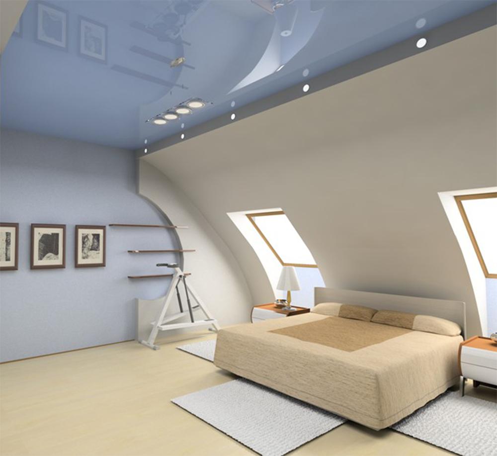 Натяжной мансардный потолок