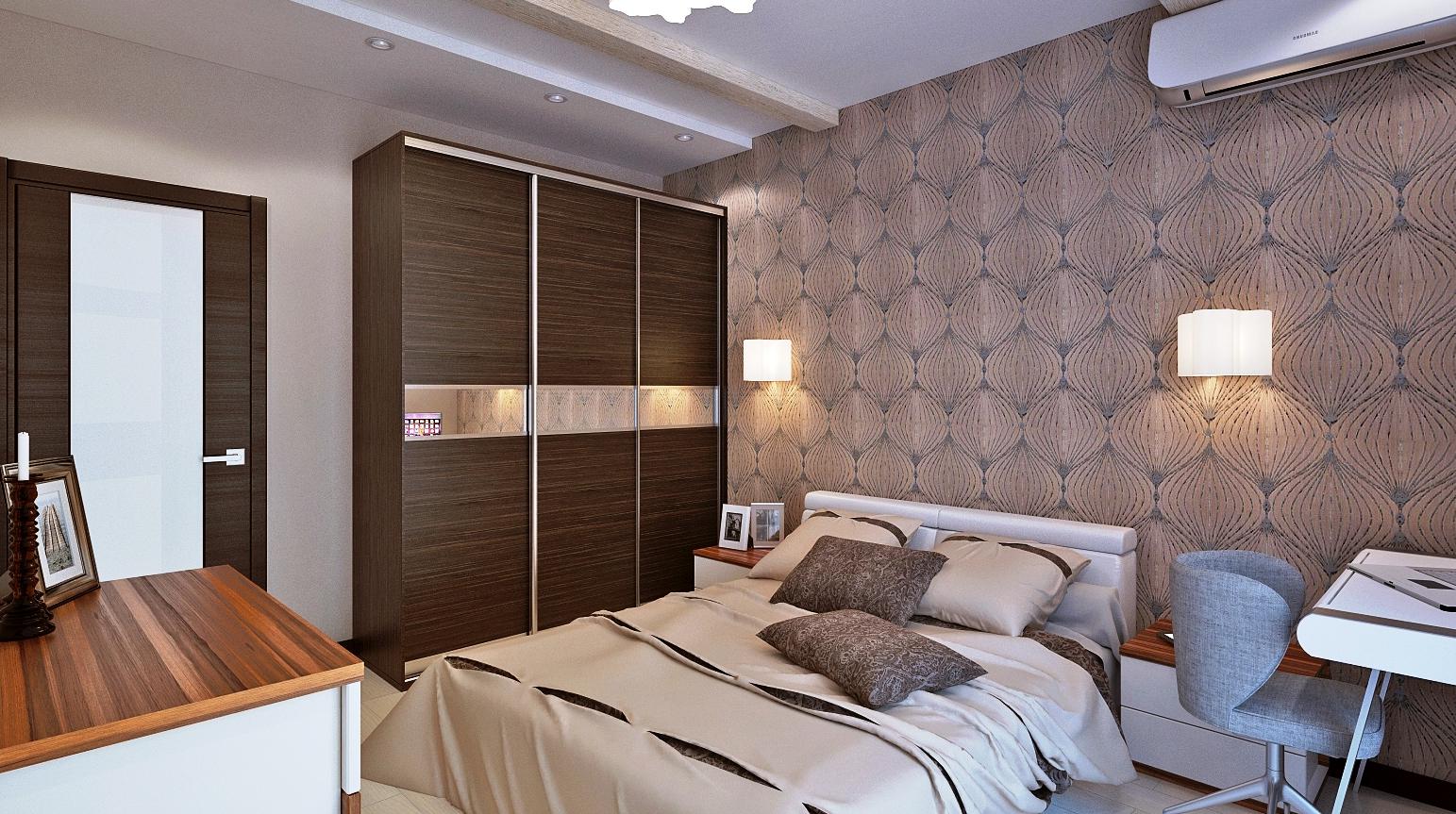 Кровать по фэн-шуй в небольшой спальне