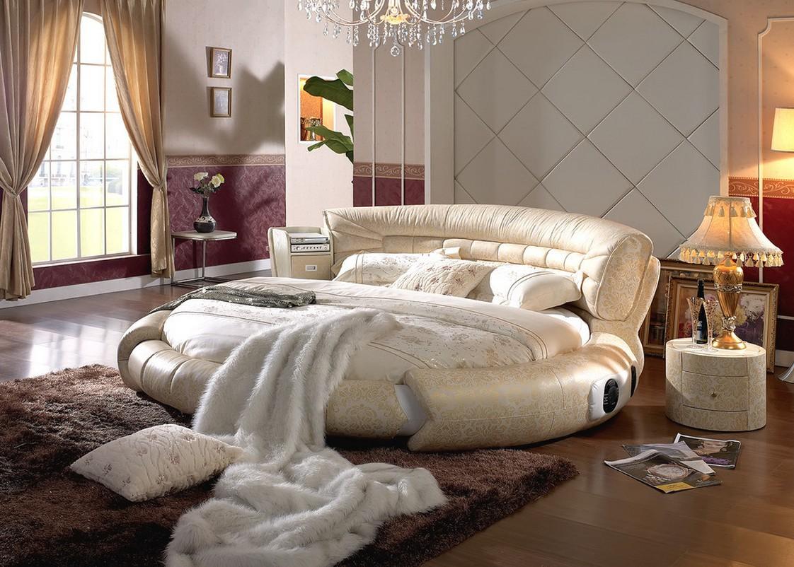 Овальная кровать в неоклассическом стиле