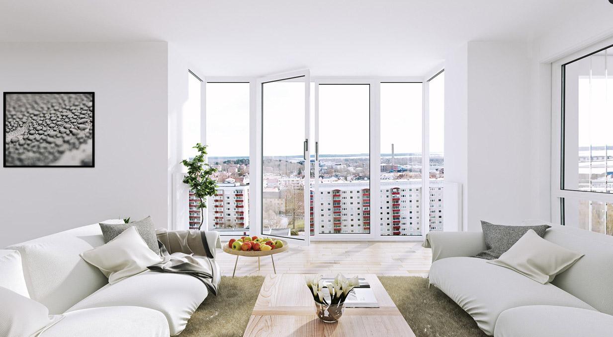 Панорамное окно без штор