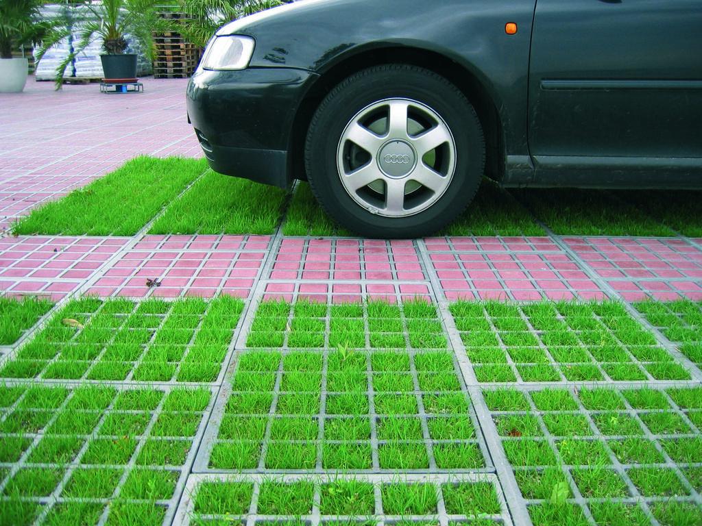 Газонная парковочная решетка