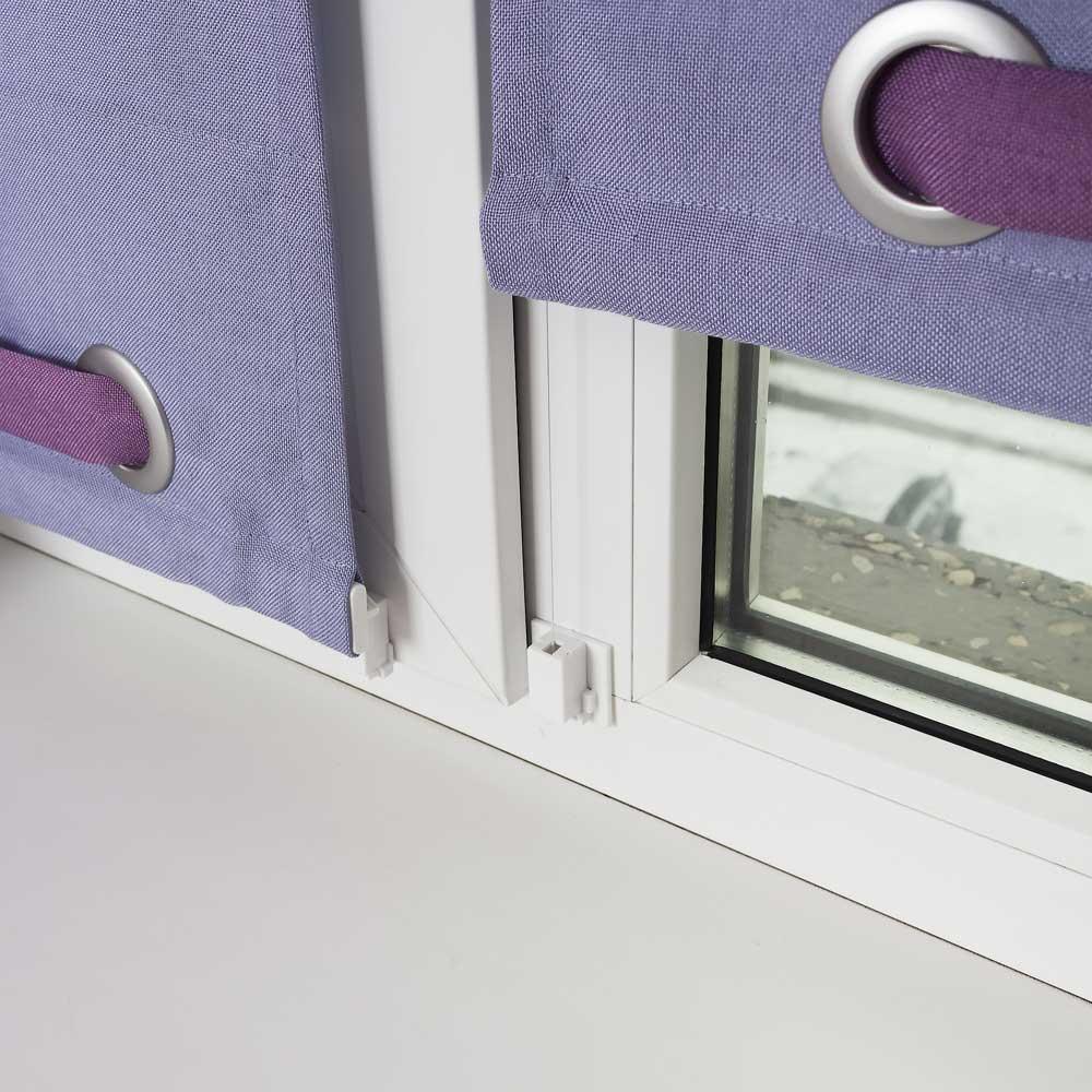 Шторы без сверления на пластиковое окно
