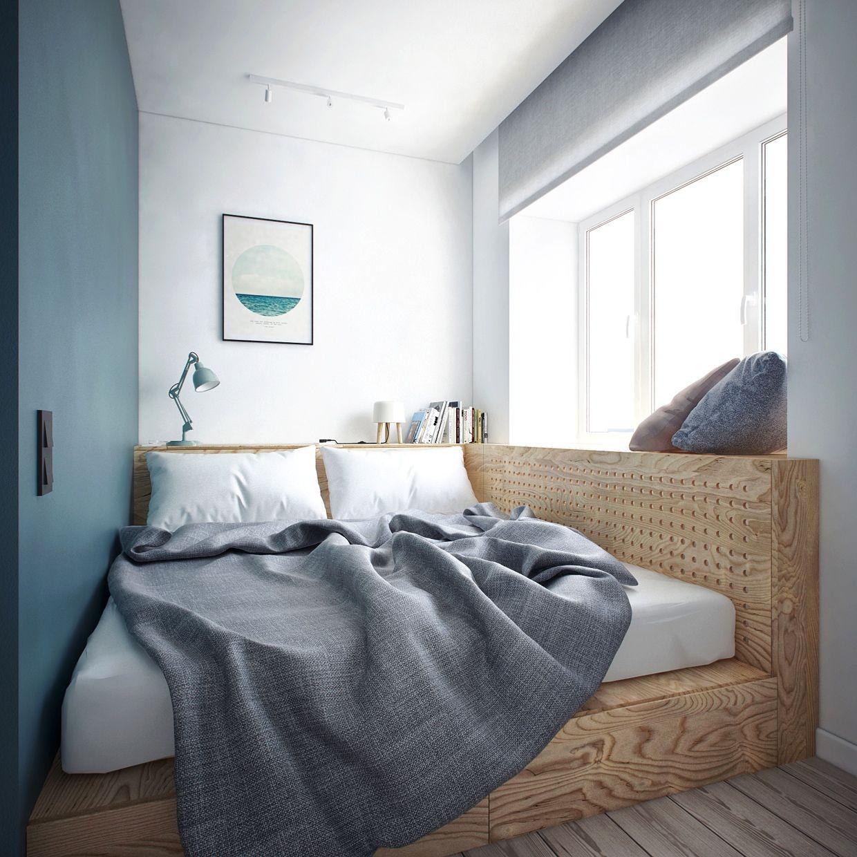 Кровать для дачи на подиуме