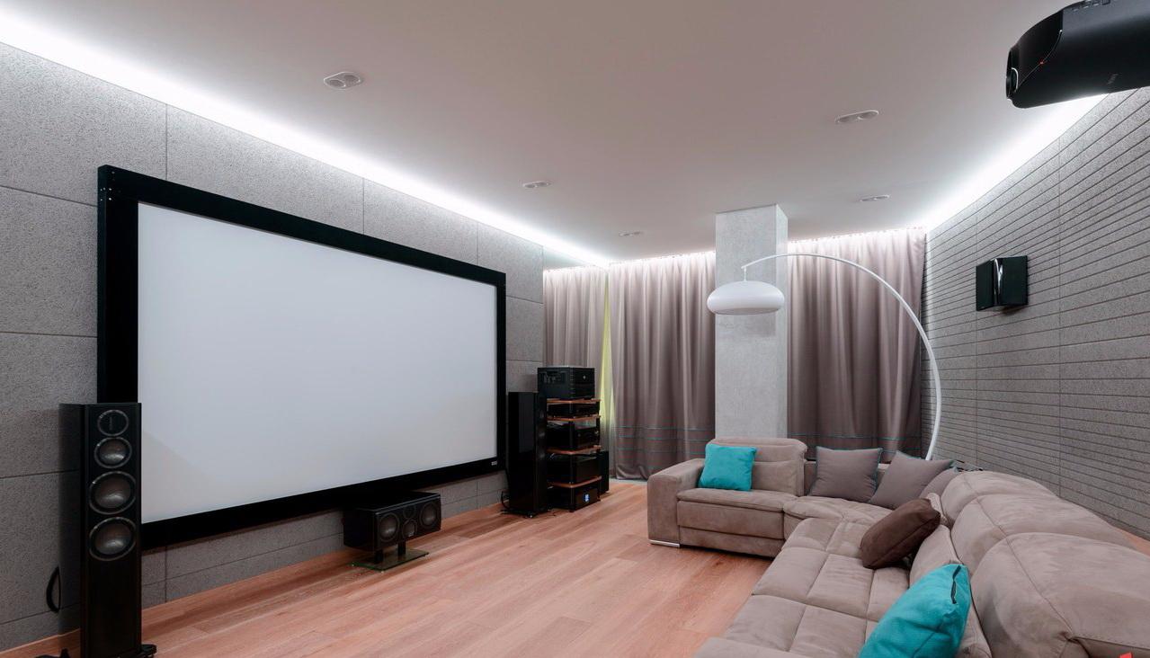 Акустический потолок с подсветкой