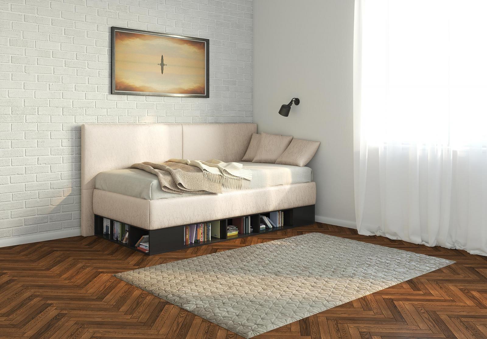 Кровать тахта с полками