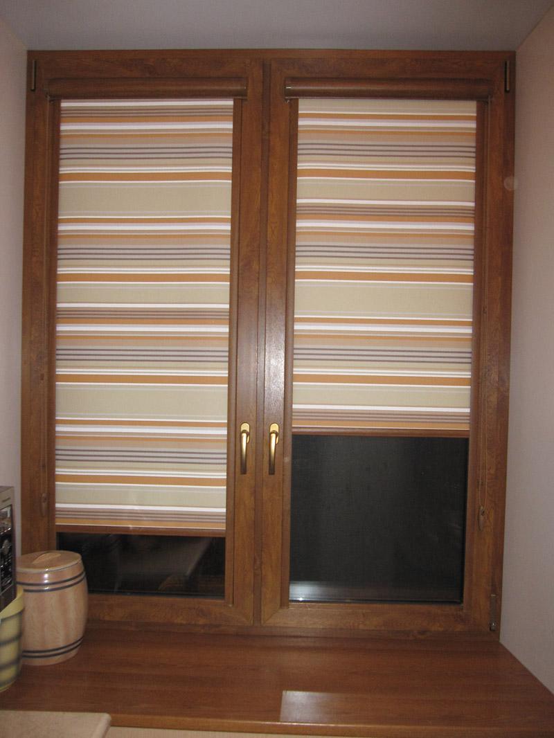 Кассетные полосатые шторы
