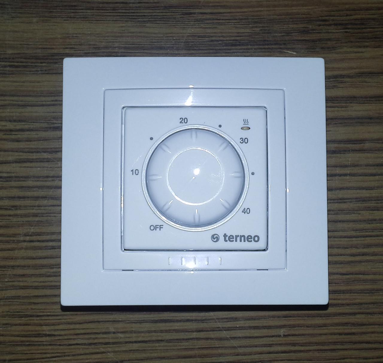 Терморегулятор с поворотной шкалой для теплого пола