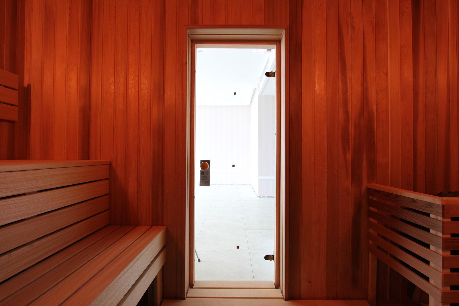 Дверь для сауны из прочного стекла