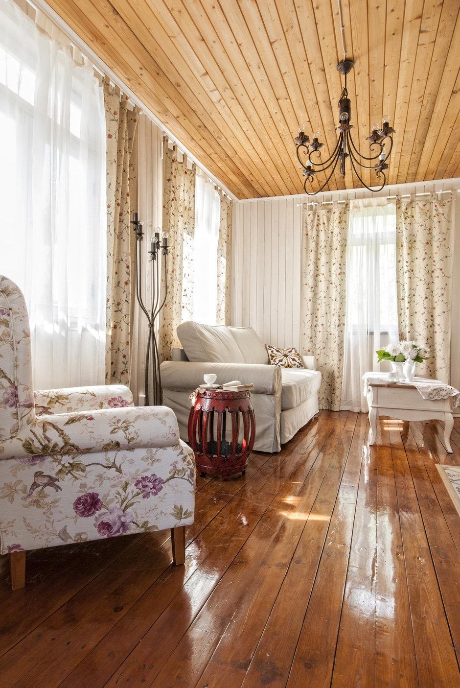 Гостиная в стиле прованс на даче