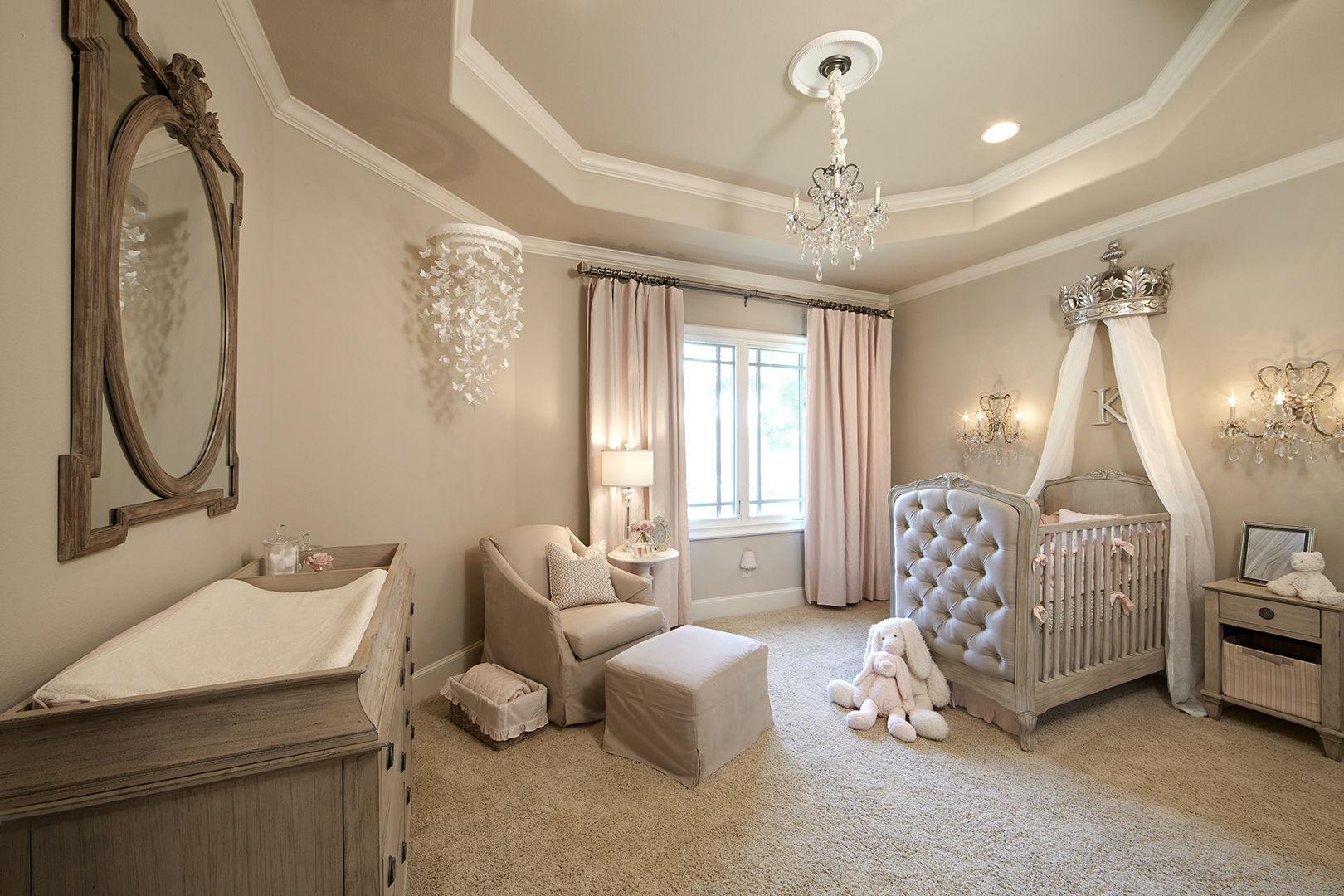 Круглый потолок в стиле прованс