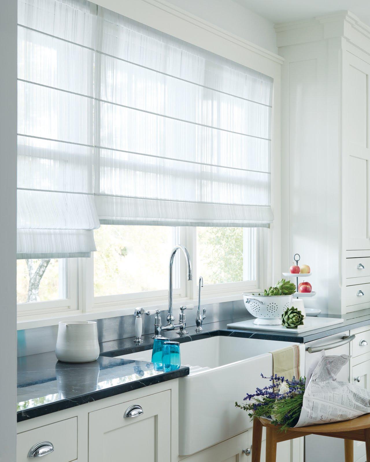 Короткие прозрачные шторы