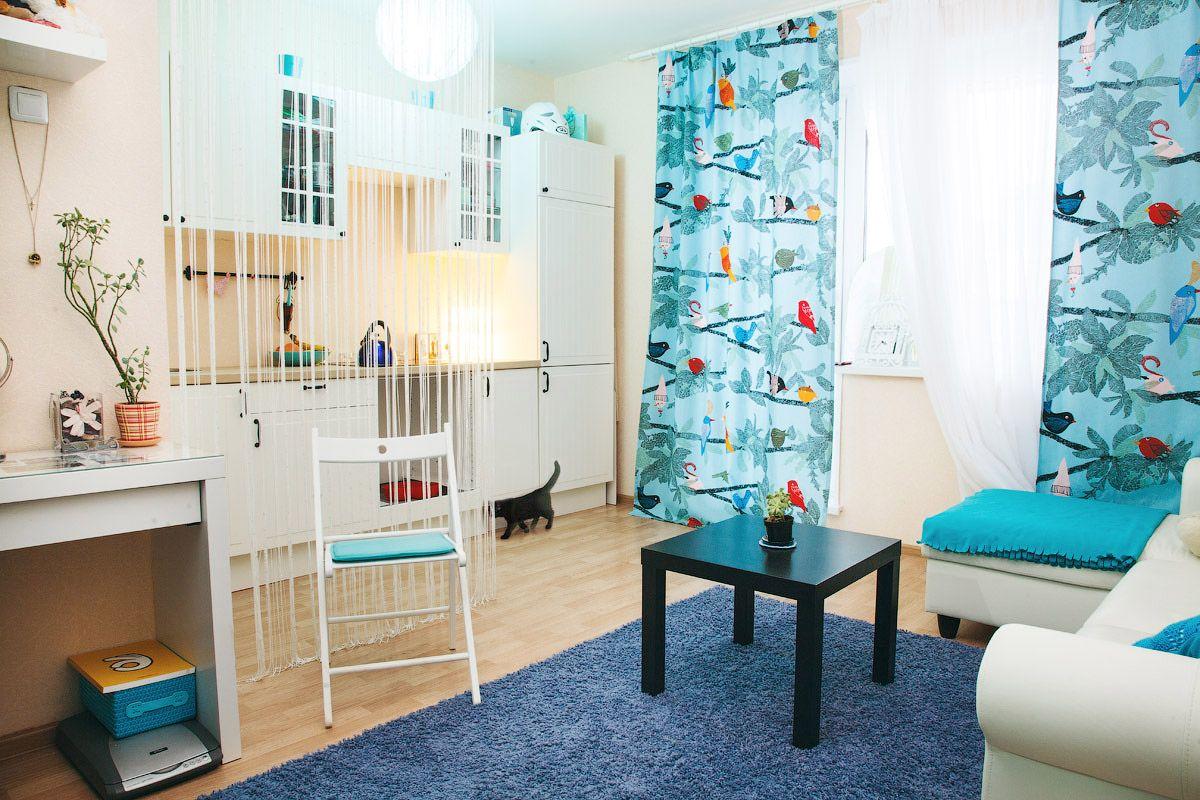 Шторы для комнаты мальчика с птицами