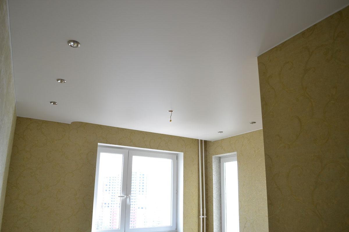 Сатиновый потолок из ПВХ