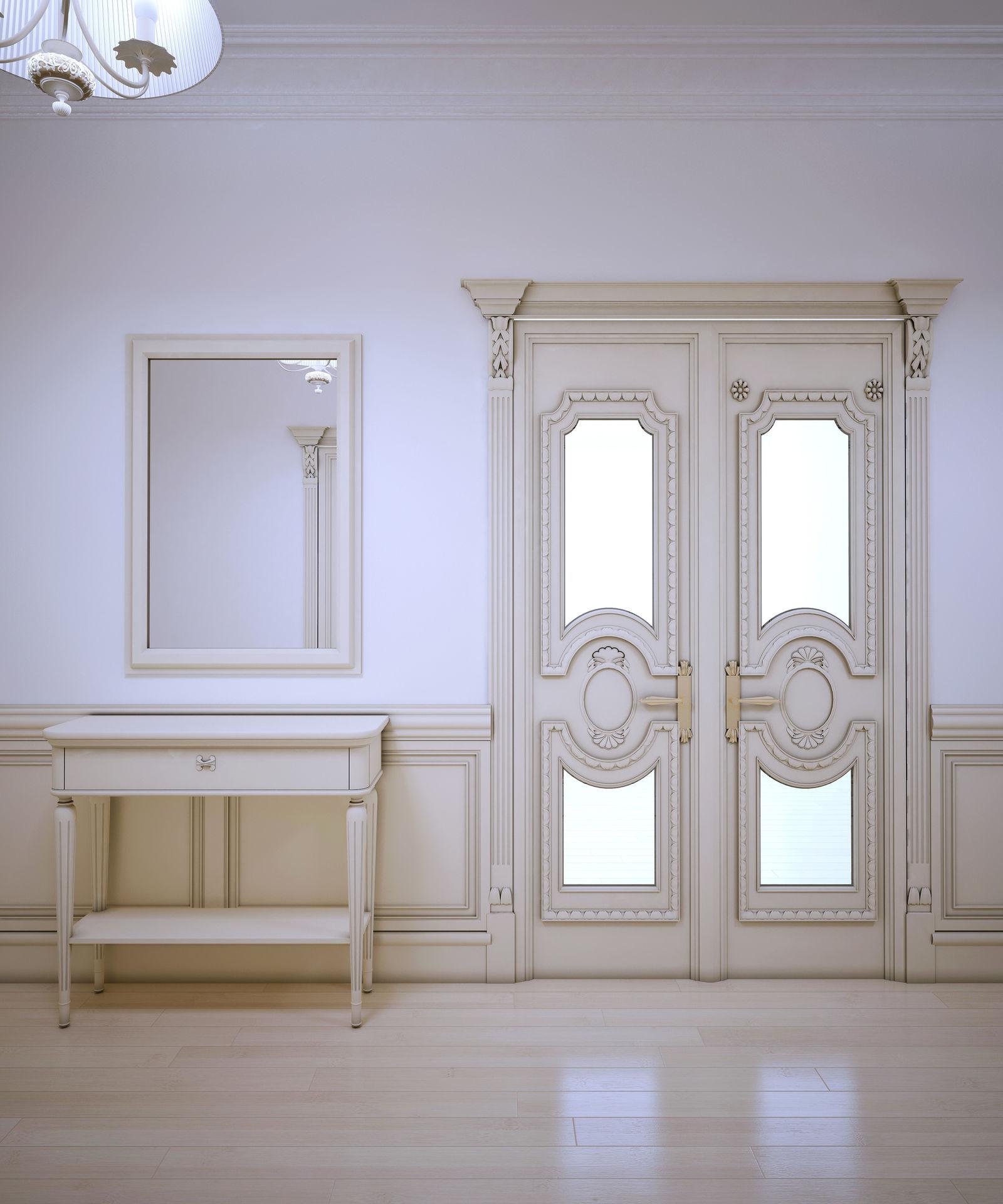 Распашная дверь в стиле прованс