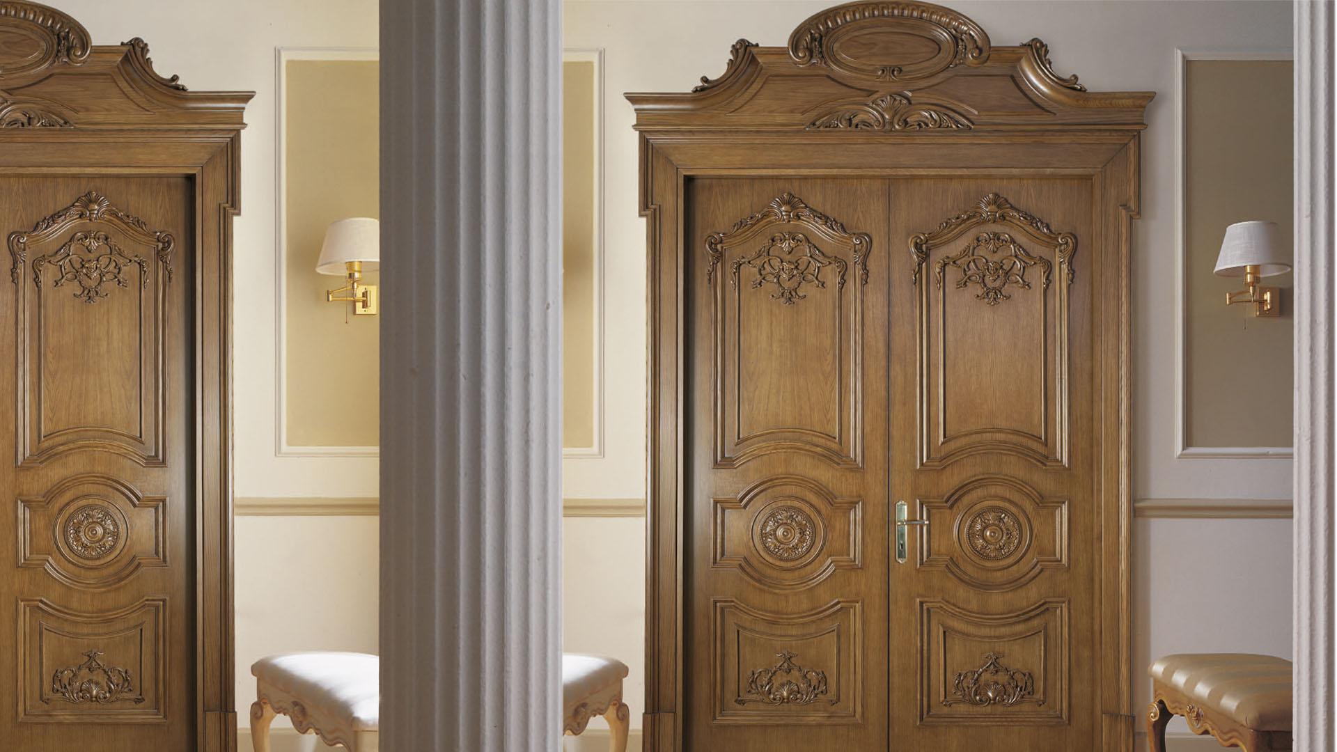Межкомнатная дверь МДФ с резным декором