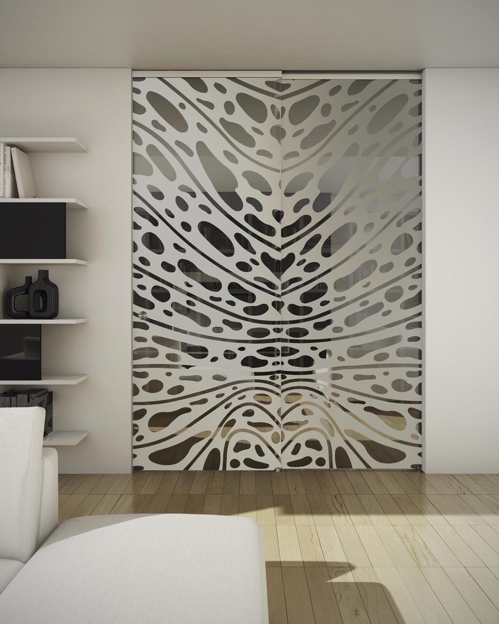 Навесные двери с рисунком