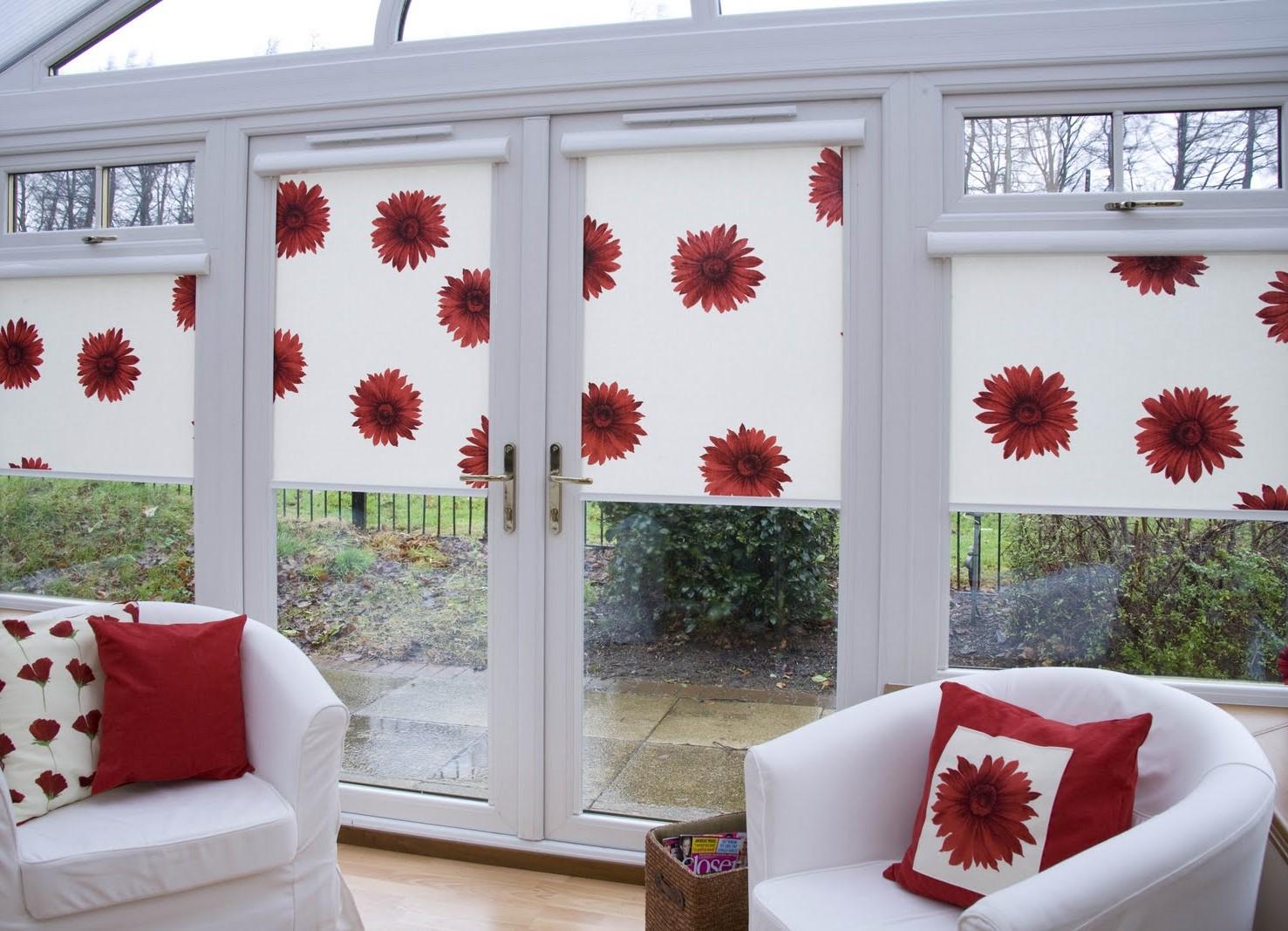 Кассетные шторы с рисунком