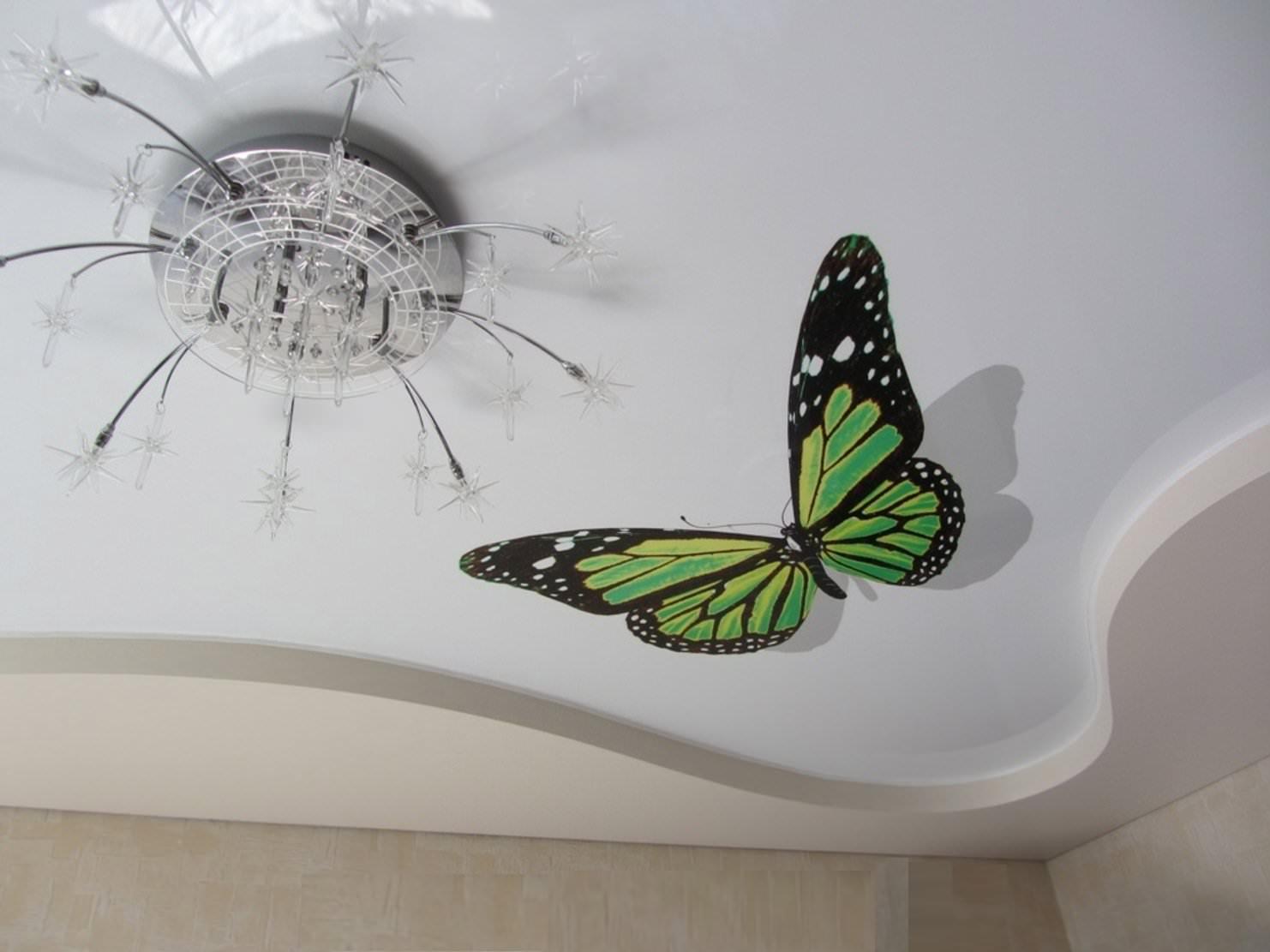 Натяжной потолок с фотопечатью и рисунком