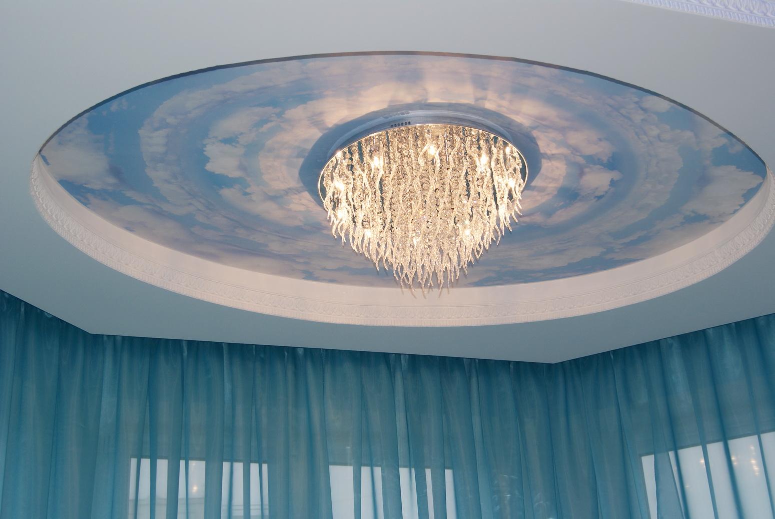 Круглый потолок с рисунком