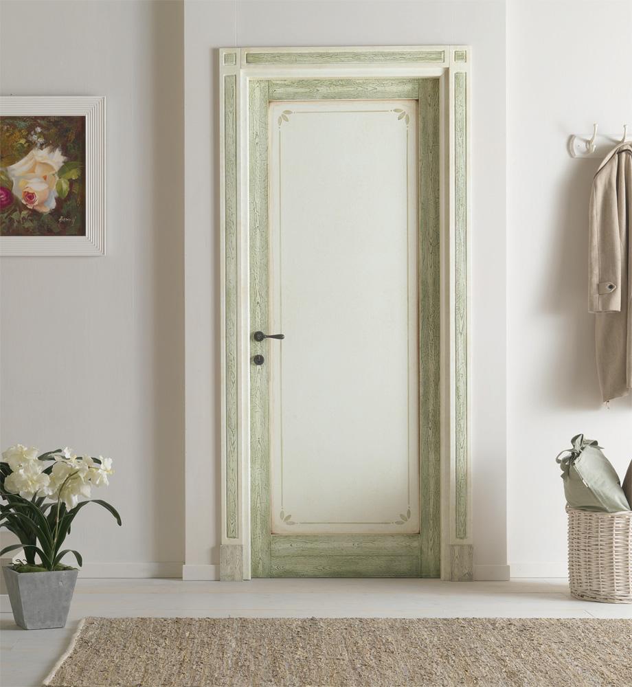 Дверь в стиле прованс с росписью