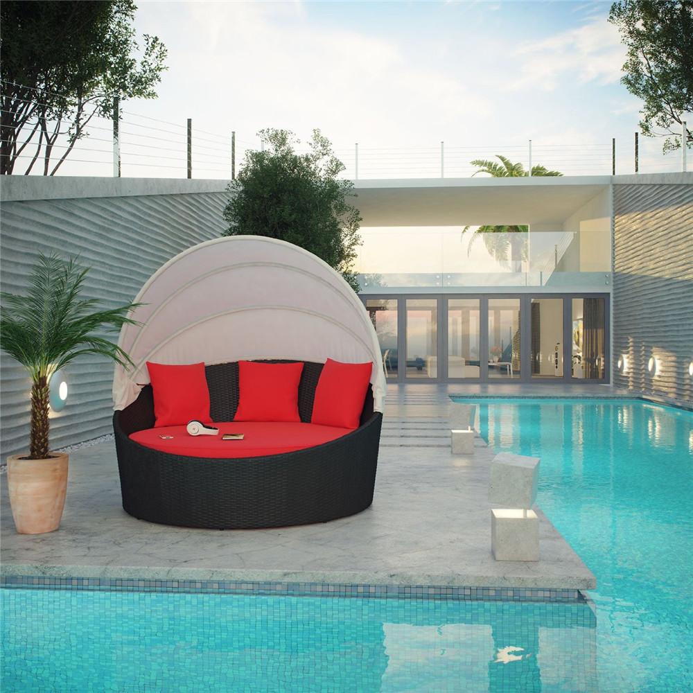 Круглый садовый диван