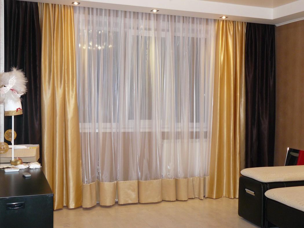 Потолочные сатиновые шторы