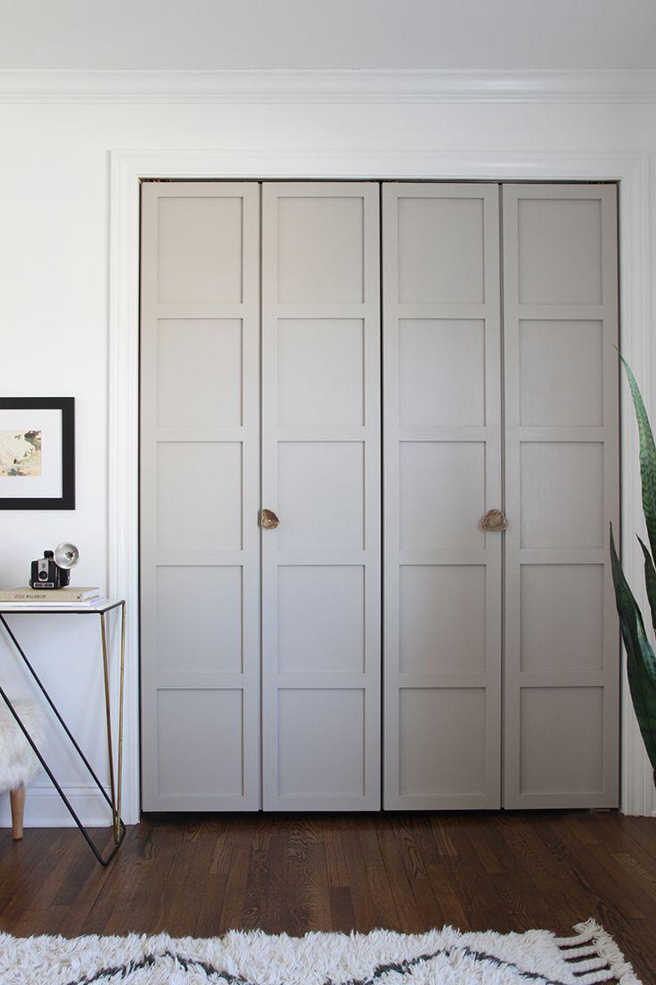 Серые двери в гардеробную