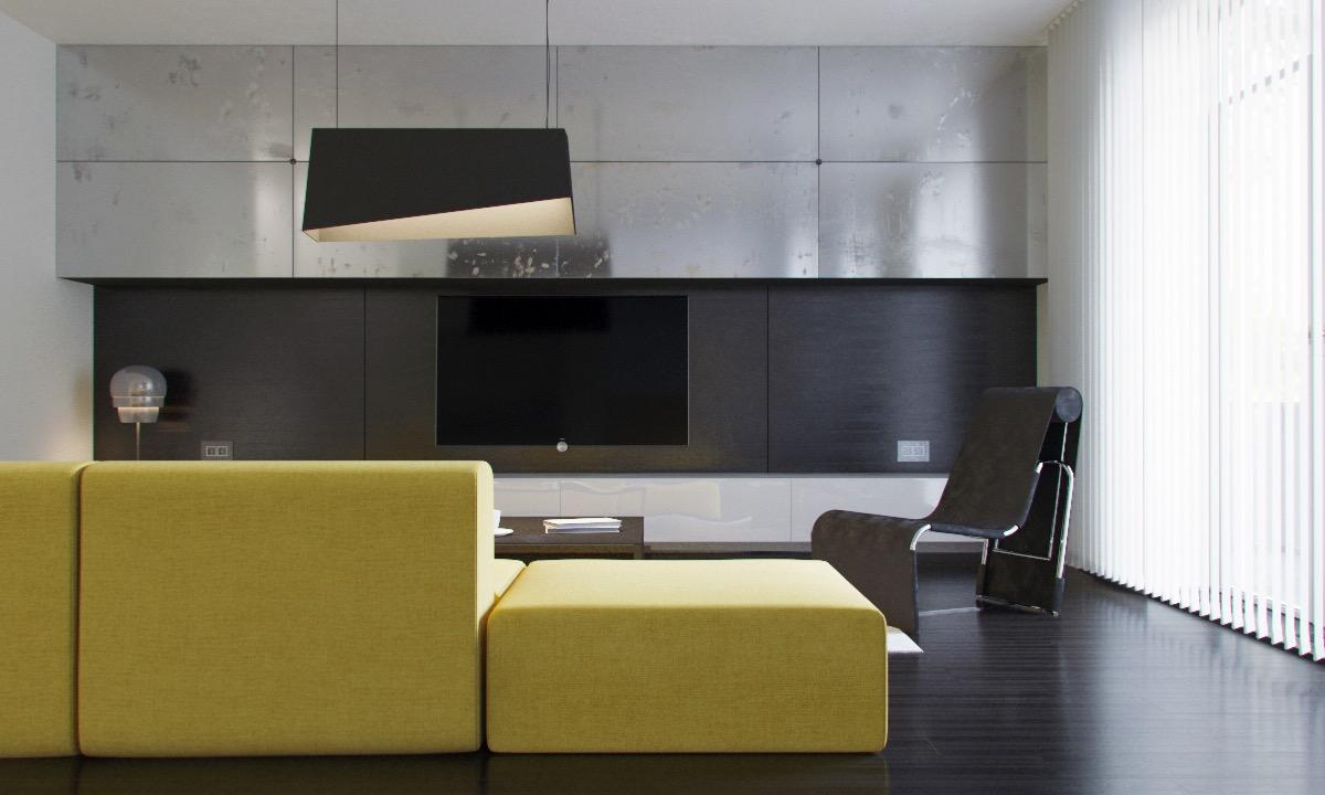Глянцевая мебель под серебро