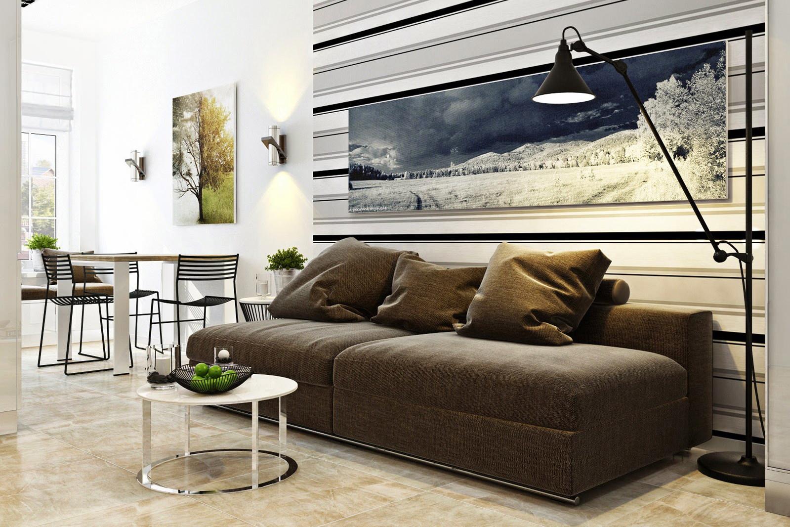 Малогабаритный серый диван