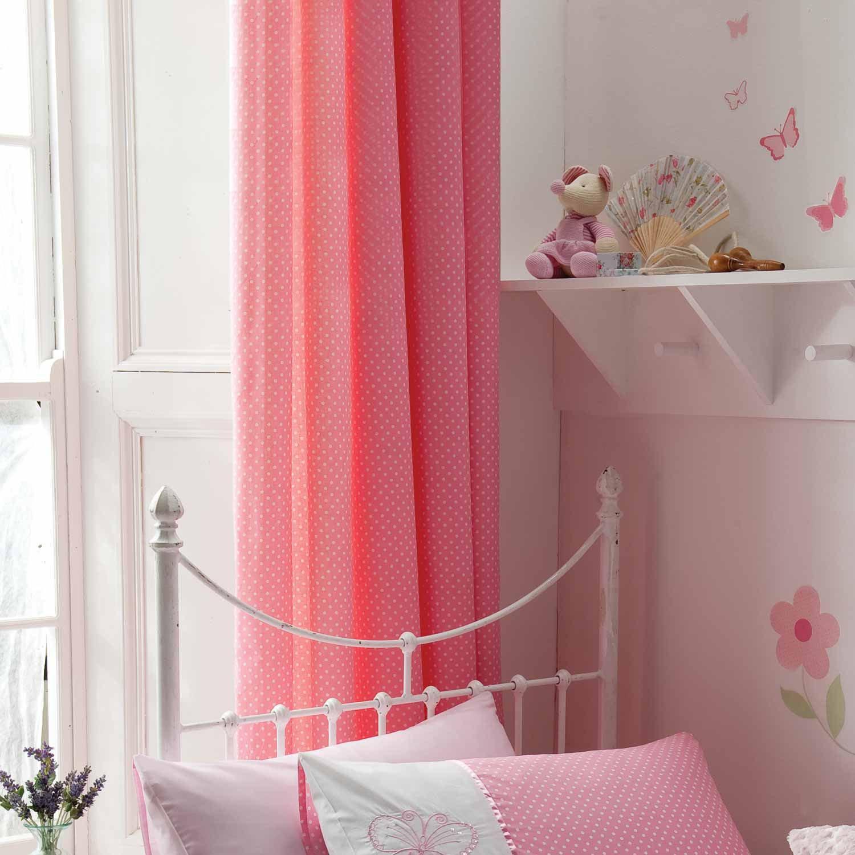 Розовые шторы в стиле шебби-шик