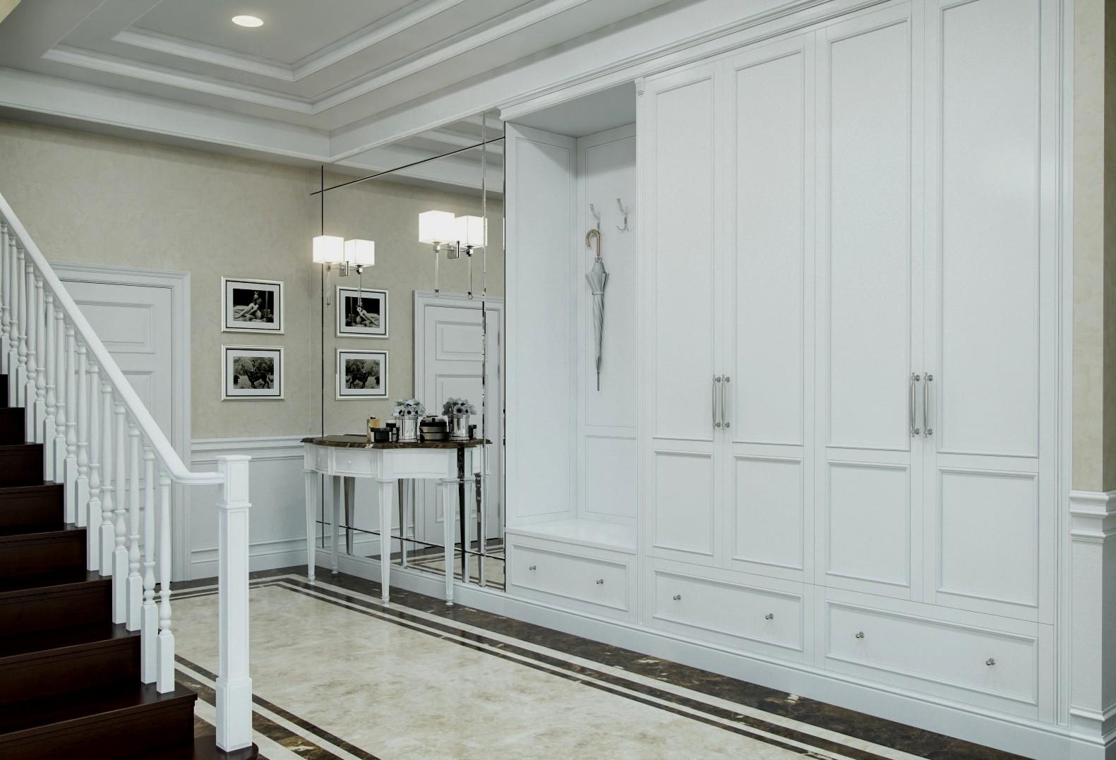 Шкаф в классической прихожей