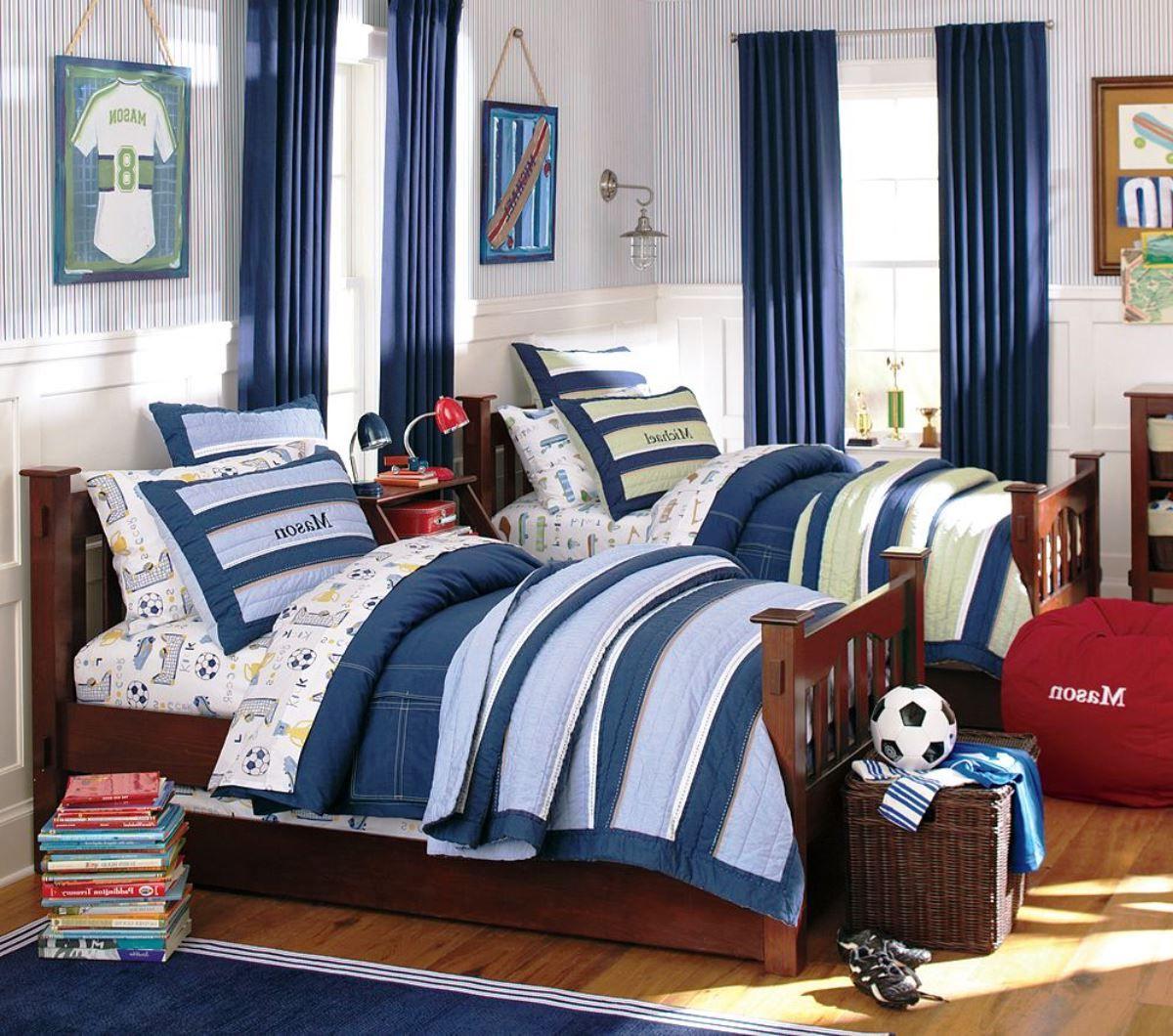 Синие шторы для комнаты мальчика