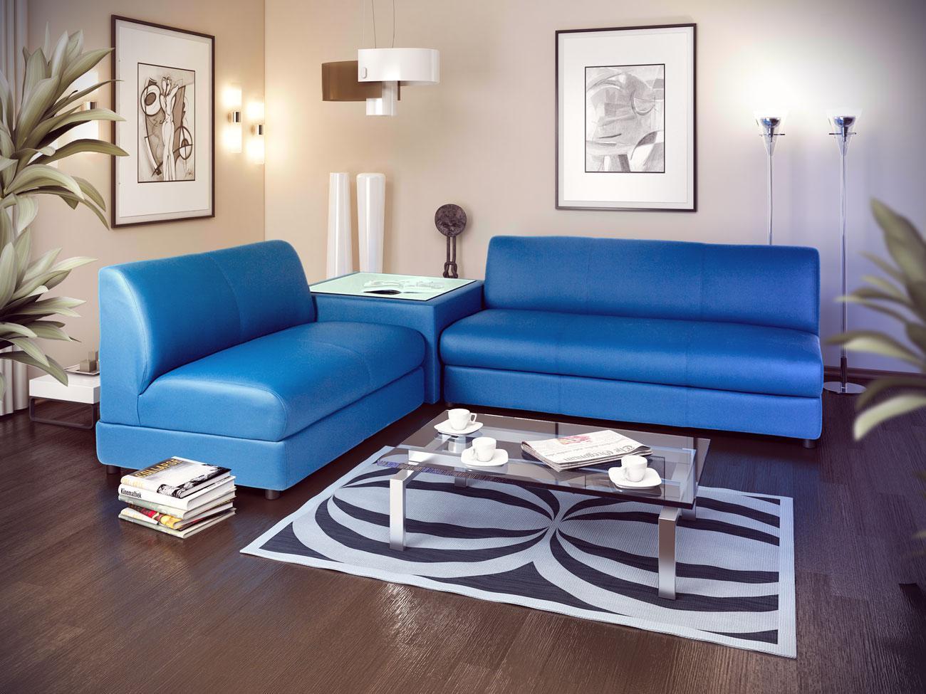 Синий диван дельфин