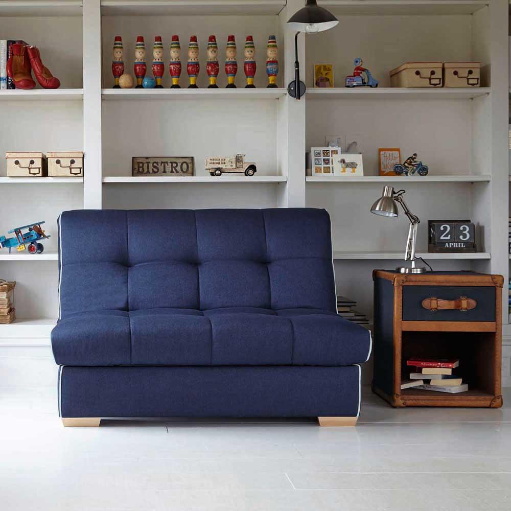 Малогабаритный синий диван