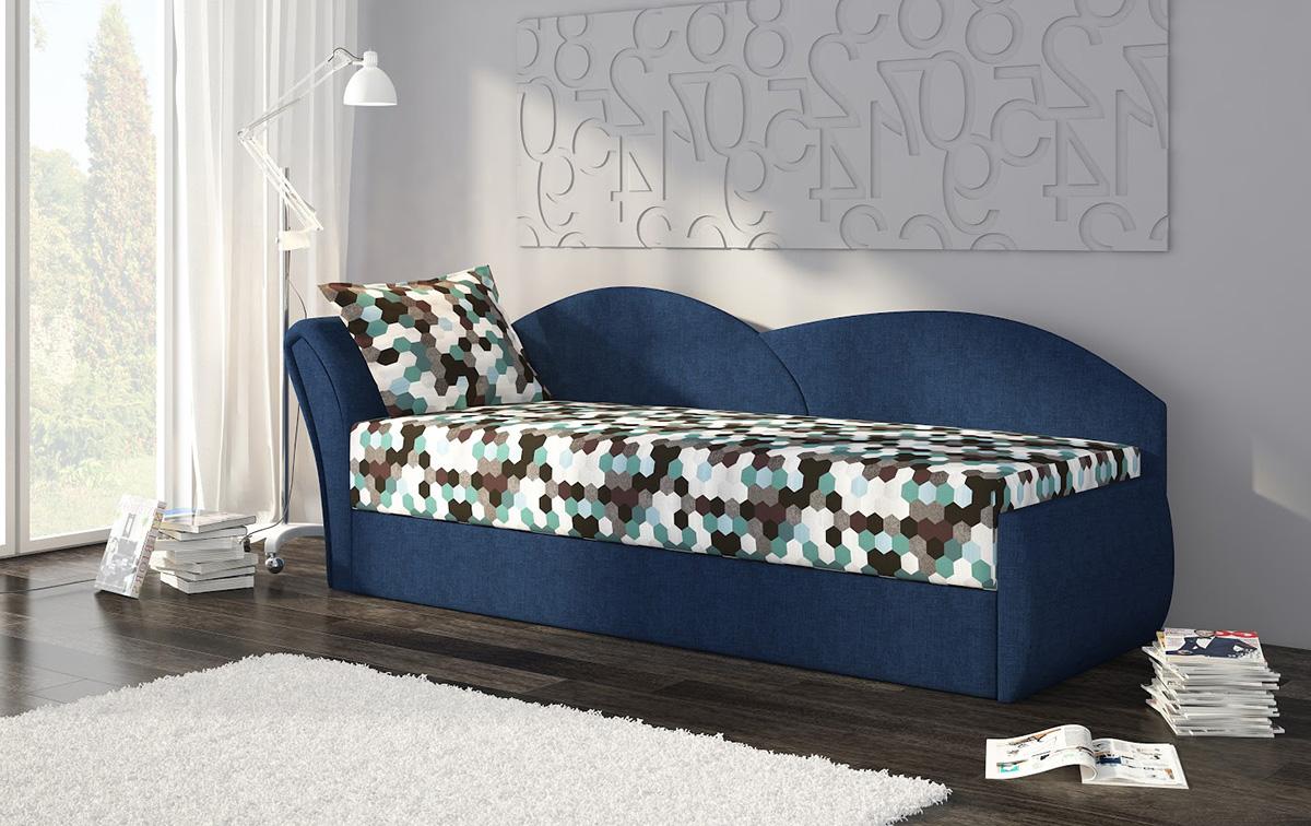 Синяя кровать тахта