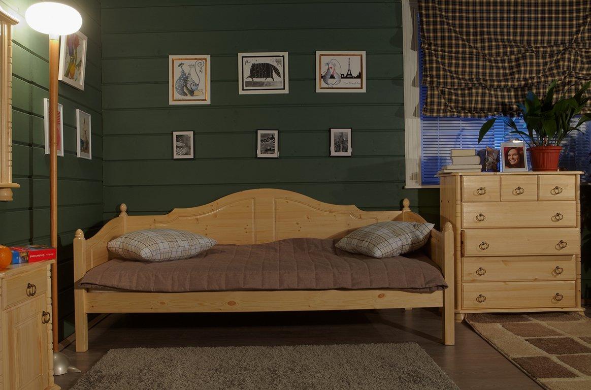 Кровать тахта из сосны