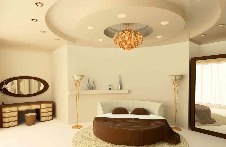 Гипсовый потолок в спальне