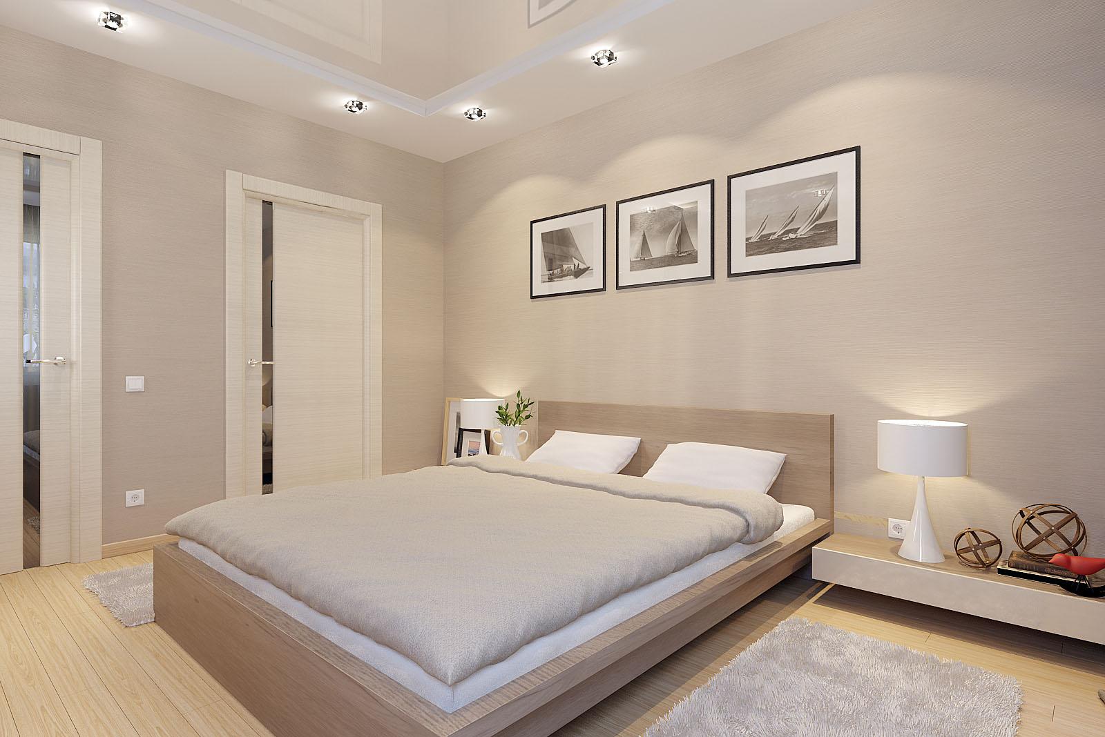 Дверь капучино в спальне